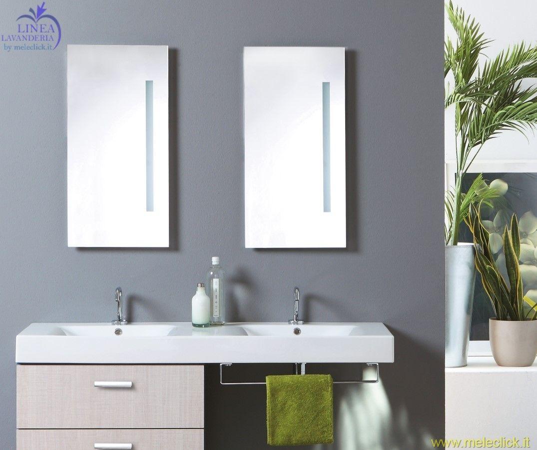 Specchio acquaceramica vendita on line colavene - Specchio retroilluminato ...