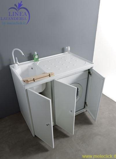 Lavabo con alloggiamento lavatrice jos vendita on line for Lavabo con lavatrice