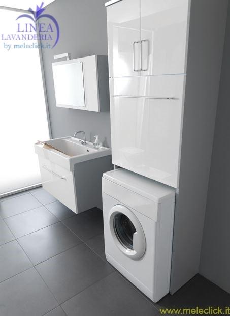 Mobile con alloggio lavatrice lavarredo vendita on line - Mobile bagno con portabiancheria ...