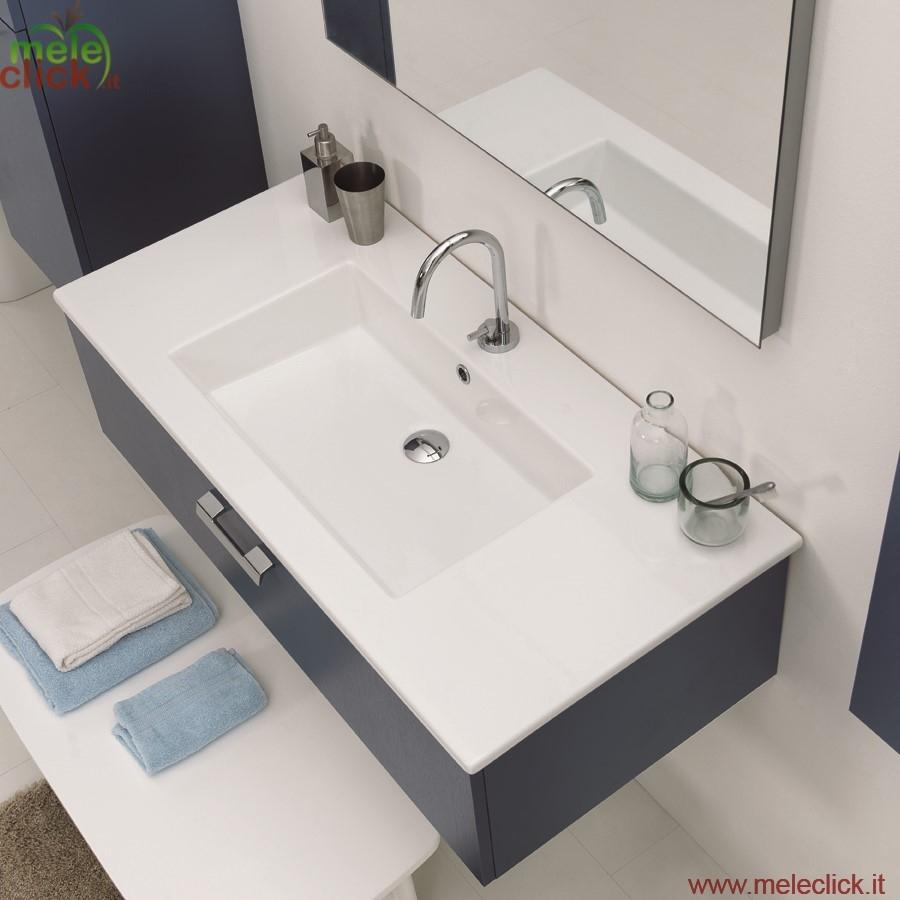 Lavabo in ceramica con mobile sospeso drop colavene for Lavabo con mobile