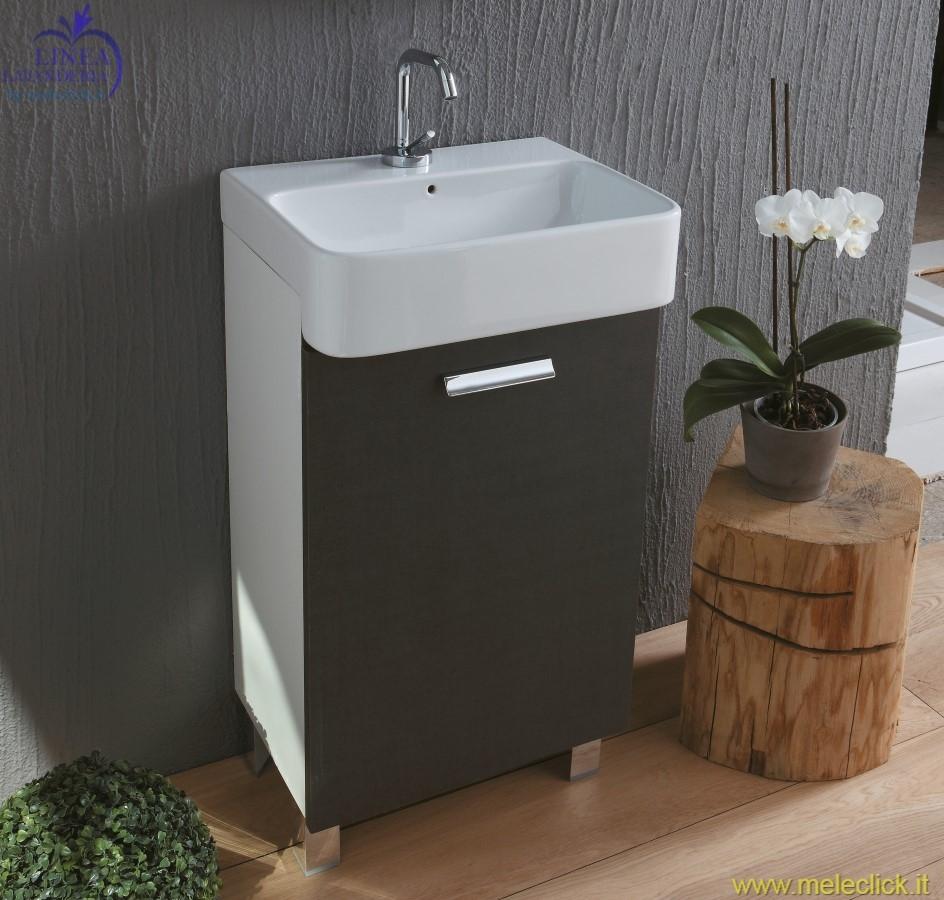 Lavabo lavapanni in ceramica su mobile mini colavene - Mini lavabo bagno ...