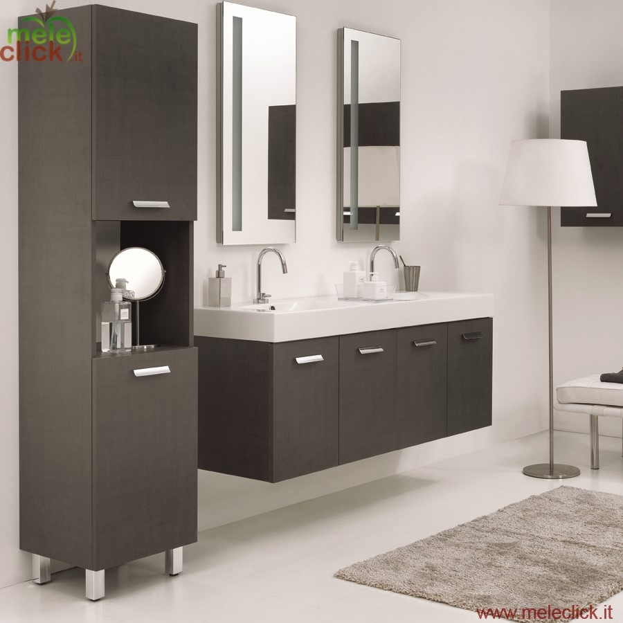 Lavabo doppio su mobile sospeso cento colavene - Colavene arredo bagno ...