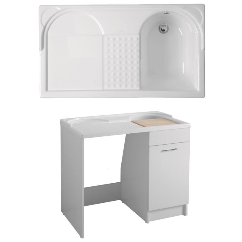 Lavapanni duo con contenitore per lavatrice vendita on line for Lavatrice doppio cestello