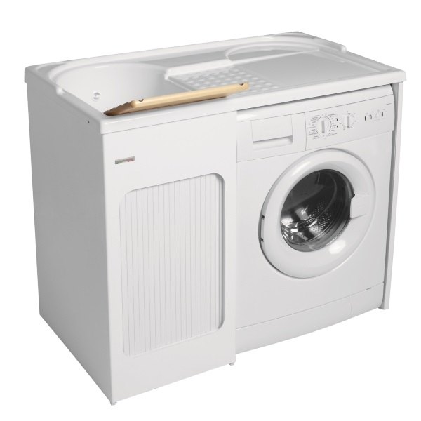 Lavapanni con mobile inserimento lavatrice colavene - Mobile per lavatrice ikea ...